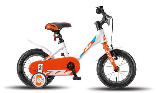 KTM Kids KINDERRAD 1.12 UNI WEISS / ORANGE / BLAU Biciclete