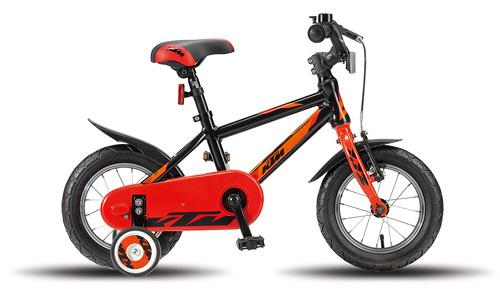 KTM Kids KINDERRAD 1.12 JUNGE SCHWARZ / ORANGE Biciclete
